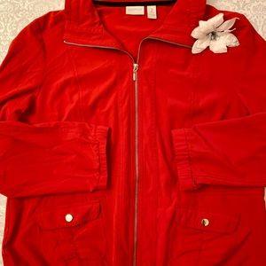 ❣️Chico's Zenergy Neema Perforated Jacket Sz 2